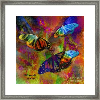 Buttrerfly Collage All About Butterflies Framed Print
