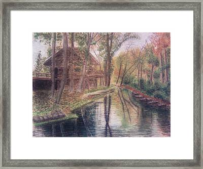 Butts Mill Farm Framed Print by Andrew Pierce
