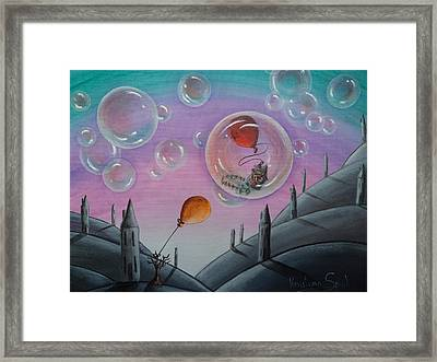 Buubble Trouble Framed Print