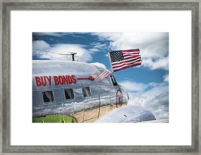 Framed Print featuring the photograph Buy Bonds by Steven Bateson