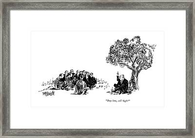 Buy Low, Sell High! Framed Print