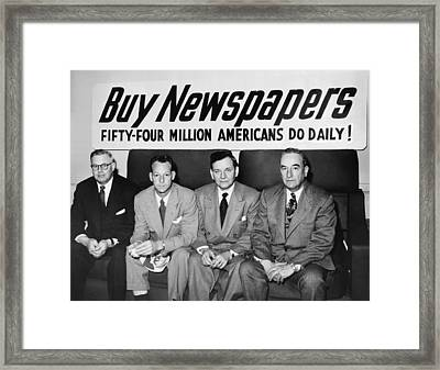 Buy Newspapers Framed Print by Underwood Archives