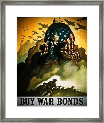 Buy War Bonds Framed Print