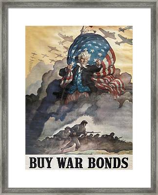 Buy War Bonds Framed Print by Unknown