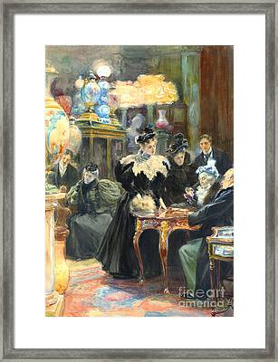 Buying Christmas Presents 1895 Framed Print by Padre Art