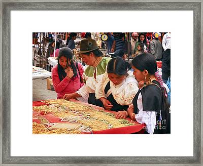 Buying Jewellery Framed Print
