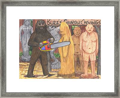 Buzz Bigfoot Framed Print