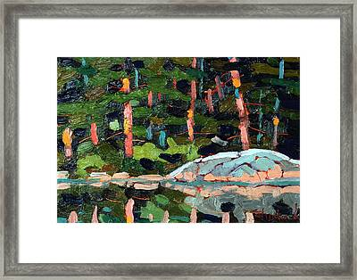 Buzzard Lake Sunset Shore Framed Print