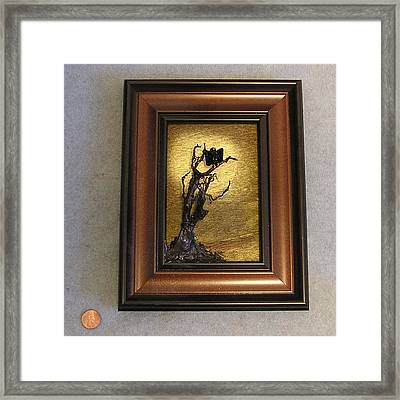 Buzzard With Gold Sun Framed Print