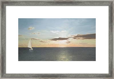 Buzzards Bay Sunset Framed Print