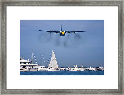 Buzzing The Crowd Framed Print by Adam Romanowicz