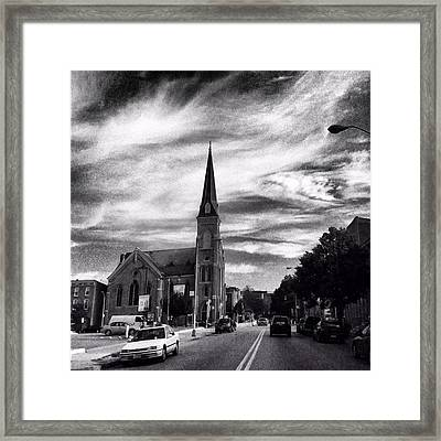 Framed Print featuring the photograph Bw Hanover Street by Toni Martsoukos