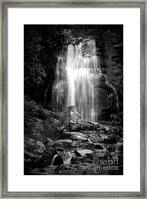 Bw Waterfall Framed Print