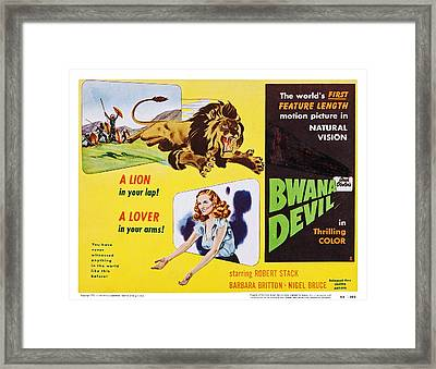 Bwana Devil, Us Lobbycard, Barbara Framed Print by Everett
