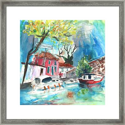 By A French Canal 01 Framed Print