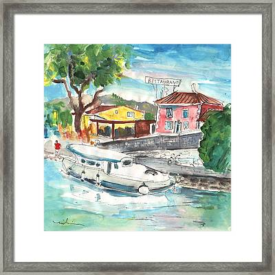 By A French Canal 02 Framed Print