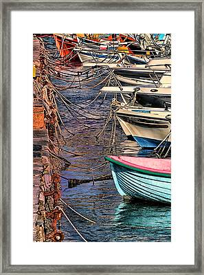 By A Nose Mykonos Greece Framed Print