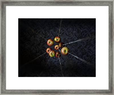 By A Thread Framed Print by Aaron Aldrich