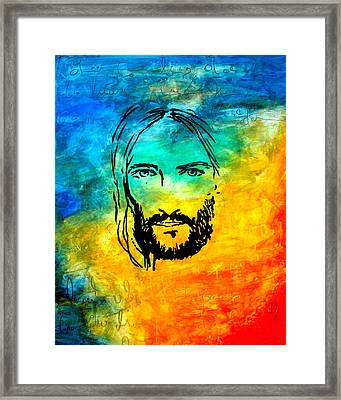 By Faith Framed Print by Ivan Guaderrama