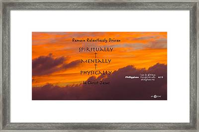 By His Power We Are Driven Framed Print by David  Norman