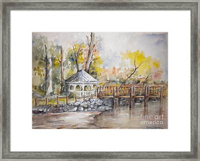 Gazebo At Lake Wylie Framed Print