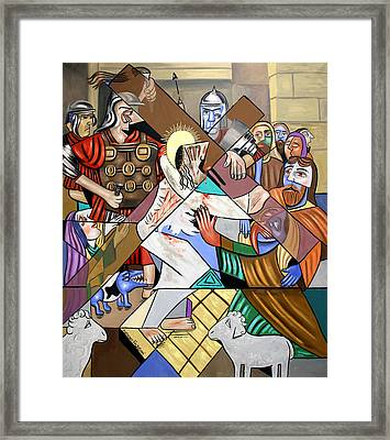 By My Wounds You Were Healed Framed Print by Anthony Falbo