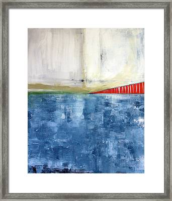 By The Bay- Abstract Art Framed Print by Linda Woods
