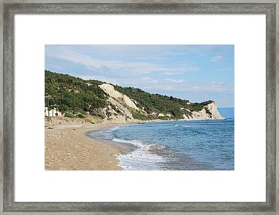 Framed Print featuring the photograph By The Beach by George Katechis