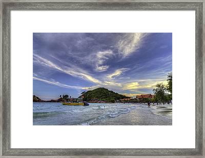 By The Beach Framed Print by Mario Legaspi