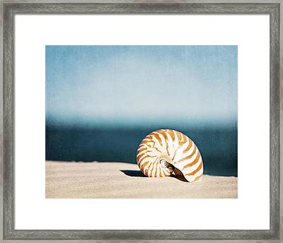 By The Blue Framed Print by Carolyn Cochrane