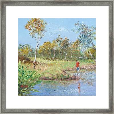 By The Creek Framed Print by Jan Matson