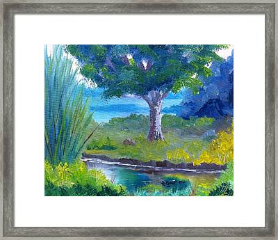 By The Creek Framed Print by Roy Gould