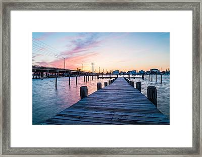 By The Dock Framed Print by Kristopher Schoenleber