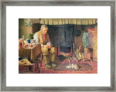 By The Fireside Framed Print by Henry Spernon Tozer