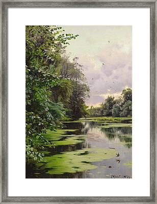 By The Lake II Framed Print by Peder Monsted
