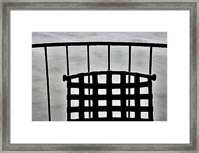 By The Lake In The Rain Framed Print by KM Corcoran