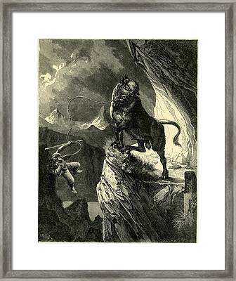 By The Lake Of Lucerne Switzerland From The Original Framed Print