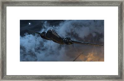Nightfighter Framed Print by Robert Perry