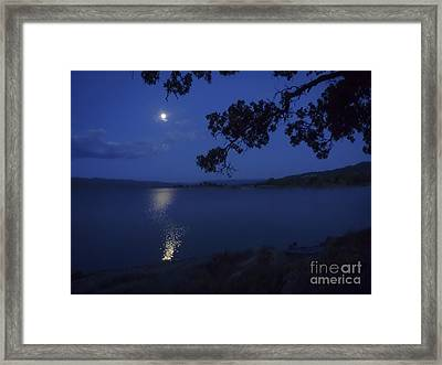 By The Light Of The Silvery Moon Framed Print by Cheryl Wood