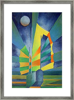 Framed Print featuring the painting By The Light Of The Silvery Moon by Tracey Harrington-Simpson