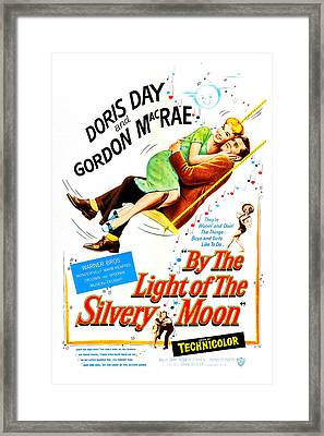 By The Light Of The Silvery Moon, Us Framed Print by Everett