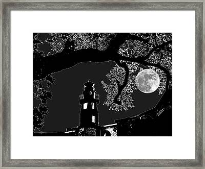 Framed Print featuring the photograph By The Light by Robert McCubbin
