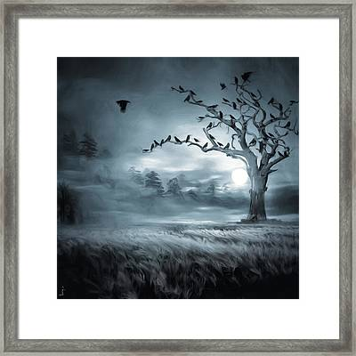 By The Moonlight Framed Print by Lourry Legarde