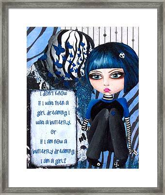 Framed Print featuring the painting By The Moonlight by Oddball Art Co by Lizzy Love