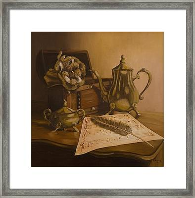 By The Note Paper Framed Print by Andreja Dujnic