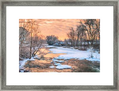 By The Old Mill Framed Print