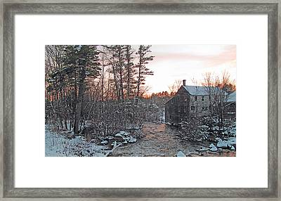 By The Old Mill Stream Framed Print