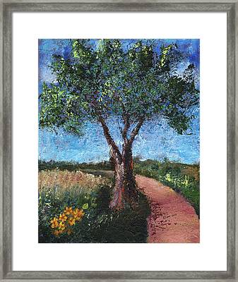 By The Path Framed Print