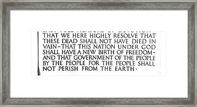 By The People For The People Framed Print by Greg Fortier
