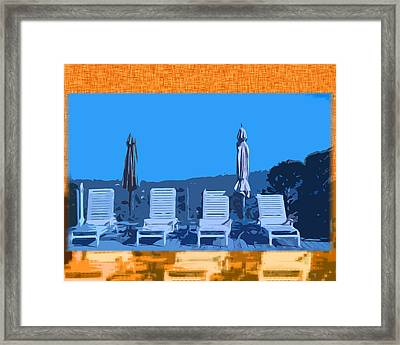 By The Pool Framed Print